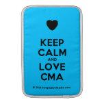 [Love heart] keep calm and love cma  MacBook Air sleeves