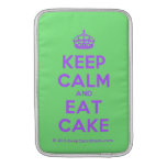 [Crown] keep calm and eat cake  MacBook Air sleeves