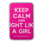 keep calm and fight like a girl  MacBook Air sleeves
