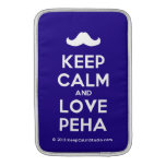 [Moustache] keep calm and love peha  MacBook Air sleeves