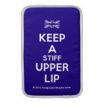 [UK Flag] keep a stiff upper lip  MacBook Air sleeves
