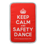 [Crown] keep calm and safety dance  MacBook Air sleeves