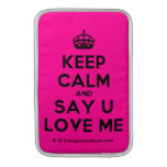 [Crown] keep calm and say u love me  MacBook Air sleeves