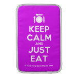 [Cutlery and plate] keep calm and just eat  MacBook Air sleeves