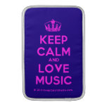 [Dancing crown] keep calm and love music  MacBook Air sleeves
