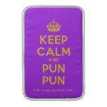 [Crown] keep calm and pun pun  MacBook Air sleeves