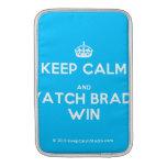 [Crown] keep calm and watch brady win  MacBook Air sleeves