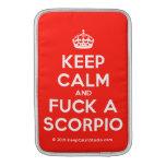 [Crown] keep calm and fuck a scorpio  MacBook Air sleeves