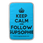 [Crown] keep calm and follow supsophie  MacBook Air sleeves