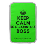 [Crown] keep calm que o jacinto é o boss  MacBook Air sleeves