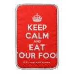[Crown] keep calm and eat your food  MacBook Air sleeves