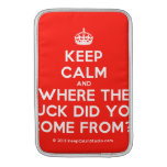 [Crown] keep calm and where the fuck did you come from?!  MacBook Air sleeves