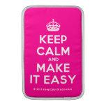 [Crown] keep calm and make it easy  MacBook Air sleeves