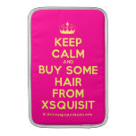 [Knitting crown] keep calm and buy some hair from xsquisit  MacBook Air sleeves