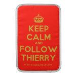 [Crown] keep calm and follow thierry  MacBook Air sleeves