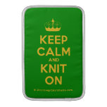 [Knitting crown] keep calm and knit on  MacBook Air sleeves
