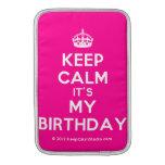 [Crown] keep calm it's my birthday  MacBook Air sleeves