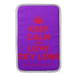 [Crown] keep calm and love nicky longo  MacBook Air sleeves