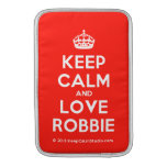 [Crown] keep calm and love robbie  MacBook Air sleeves
