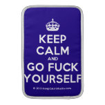 [Crown] keep calm and go fuck yourself  MacBook Air sleeves