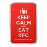 [Cutlery and plate] keep calm and eat kfc  MacBook Air sleeves
