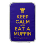 [Chef hat] keep calm and eat a muffin  MacBook Air sleeves