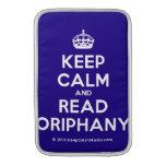 [Crown] keep calm and read oriphany  MacBook Air sleeves