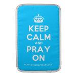 [Crown] keep calm and pray on  MacBook Air sleeves