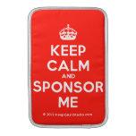 [Crown] keep calm and sponsor me  MacBook Air sleeves