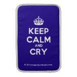 [Crown] keep calm and cry  MacBook Air sleeves