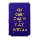 [Crown] keep calm and eat wings  MacBook Air sleeves