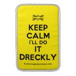 [UK Flag] keep calm i'll do it dreckly  MacBook Air sleeves