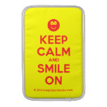 [Smile] keep calm and smile on  MacBook Air sleeves