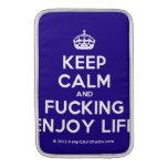 [Crown] keep calm and fucking enjoy life  MacBook Air sleeves