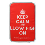 [Crown] keep calm and pillow fight on  MacBook Air sleeves