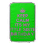 [Crown] keep calm its my little sister birthday  MacBook Air sleeves