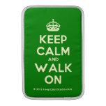 [Crown] keep calm and walk on  MacBook Air sleeves