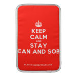 [Crown] keep calm and stay clean and sober  MacBook Air sleeves