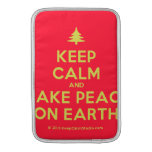 [Xmas tree] keep calm and make peace on earth  MacBook Air sleeves
