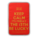 [UK Flag] keep calm its friday the 13th be lucky  MacBook Air sleeves