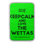 [UK Flag] keepcalm and love the wettas  MacBook Air sleeves