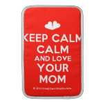 [Two hearts] keep calm calm and love your mom  MacBook Air sleeves