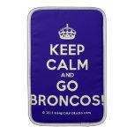 [Crown] keep calm and go broncos!  MacBook Air sleeves