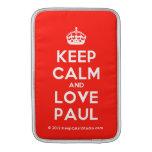 [Crown] keep calm and love paul  MacBook Air sleeves