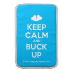 [Two hearts] keep calm and buck up  MacBook Air sleeves