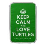 [Crown] keep calm and love turtles  MacBook Air sleeves