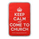 [Crown] keep calm and come to church  MacBook Air sleeves
