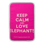 keep calm and love elephants  MacBook Air sleeves