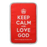 [Cupcake] keep calm and love god  MacBook Air sleeves