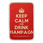 [Crown] keep calm and drink champagne  MacBook Air sleeves